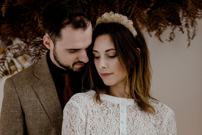 shooting mariage folk kinfolk terracotta naturel recyclé kraft bois nantes