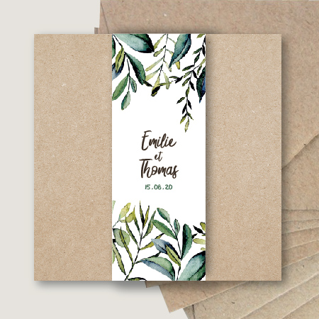 faire part mariage kraft chic eucalyptus olivier kraft champetre