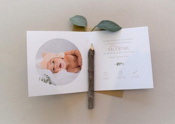 faire part naissance thème famille dessin mixte vetements eco responsable