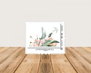 faire-parts naissance créatif et original mixte avec fleurs et oiseau