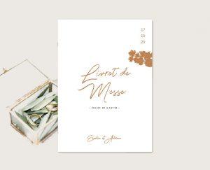 livret de cérémonie original inspiration décoration mariage automne