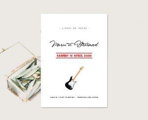 papeterie mariage originale inspiration mariage thème musique concert et rock and roll