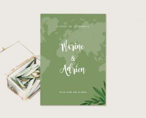 Livret cérémonie mariage thème voyage