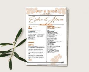 journal de cérémonie original inspiration décoration mariage automne