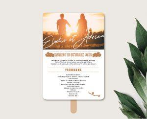 éventail de cérémonie original inspiration décoration mariage automne