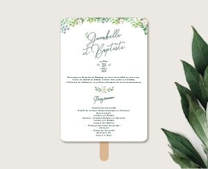 éventail de cérémonie mariage couronne de fleurs