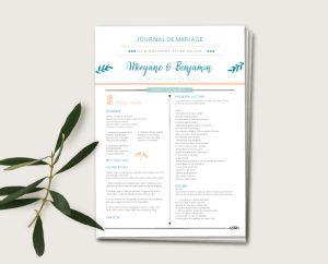 mariage champêtre chic avec combi van thème voyage