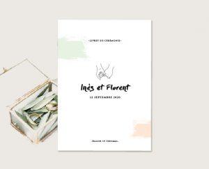 faire part mariage minimaliste chic dessin de mains