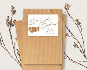 sachet kraft et étiquette cadeau invité original inspiration décoration mariage automne