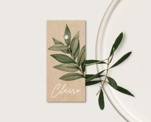 marque place mariage kraft chic