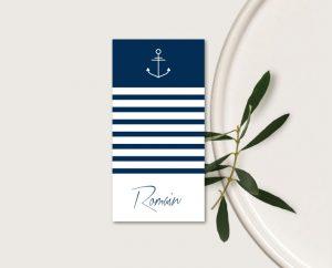 inspiration faire part mariage marin bleu et bord de mer chic