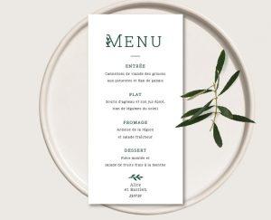 menu mariage chic de qualité