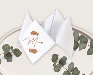 Menu cocotte original inspiration décoration mariage automne