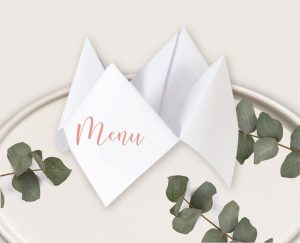 Faire-part mariage botanique frais original fleuri élégant