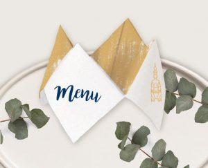 faire part mariage nantes et bretagne en bleu et or
