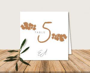 Nom de table original inspiration décoration mariage automne