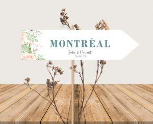 Panneau nom de table mariage thème bohème chic à fleurs