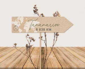 panneau nom de table mariage kraft chic