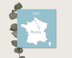 faire part mariage thème carte de france et régions