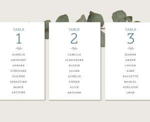 plan de tables mariage chic de qualité