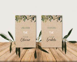 idee originale plan de table mariage kraft chic