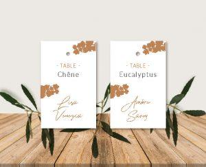 Plan de table original inspiration décoration mariage automne