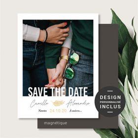 Save the Date aimants personnalisé vintage Paris MINI CARTE POSTALE MARIAGE Aimant