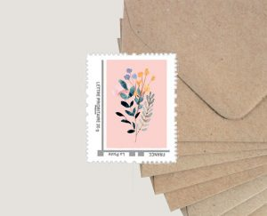Faire part naissance bohème fleuri papier recyclé écoresponsable