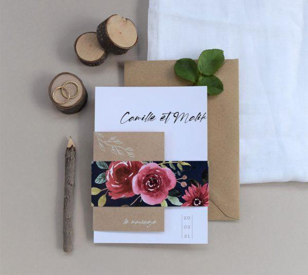 faire parts chic et original fleurs