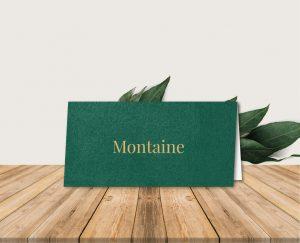 papeterie mariage forêt et montagne nature bois