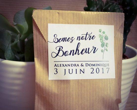 Sachet Kraft Cadeau Invité Mariage