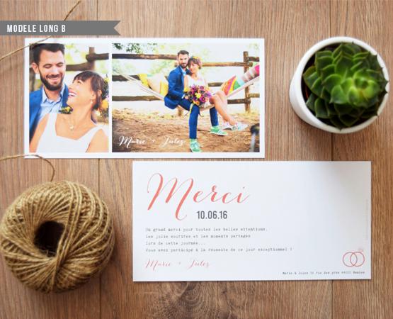 carte longue merci mariage