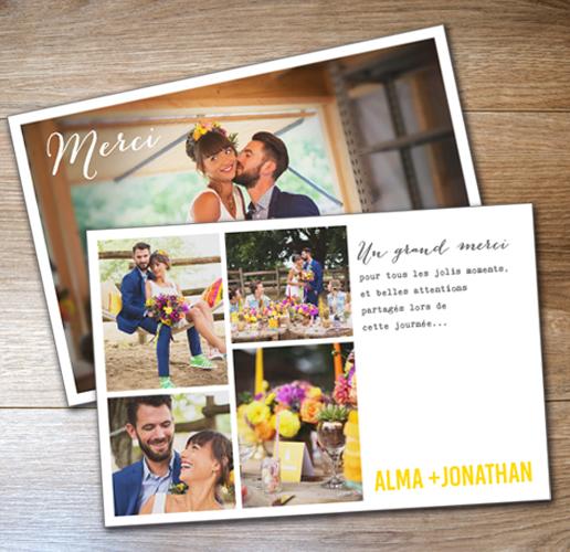 carte merci mariage carte de remerciement mariage - Formule Remerciement Mariage
