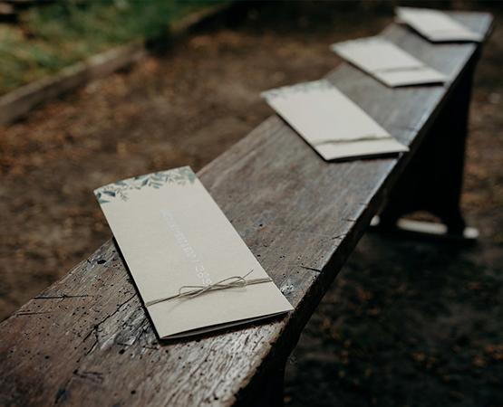 couverture livret de ceremonie mariage creation et impression papier kraft