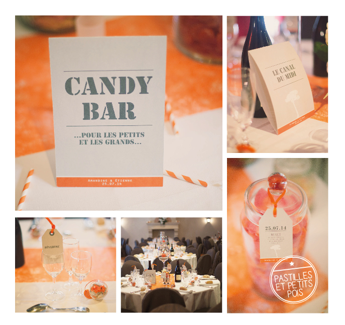 deco-mariage-orange-candy-bar-menu-table