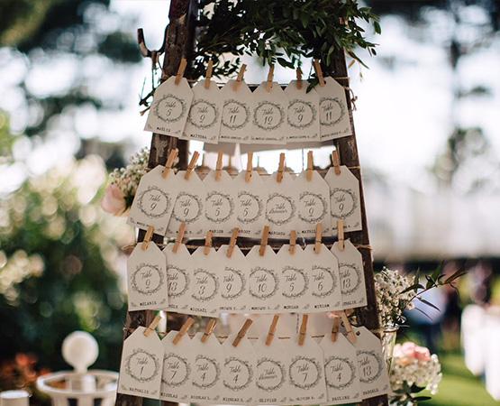 Pastilles et Petits Pois plan de tables à gratter mariage