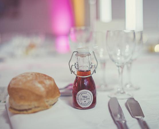 Pastilles et Petits Pois etiquette cadeau mariage