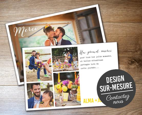 Carte postale merci mariage | faire-part de mariage | Pastilles et Petits Pois