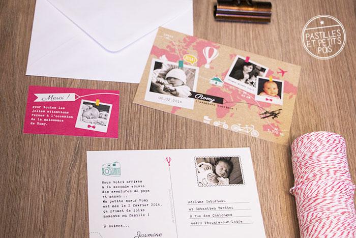 faire-part-bebe-voyage-carte-postale-polaroid-rose-naissance