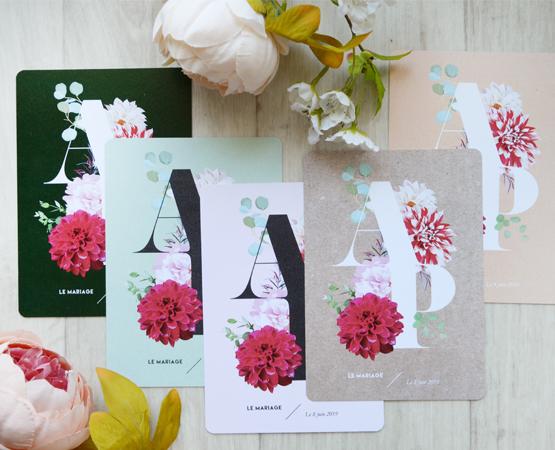 faire part mariage personnalisable floral et végétal