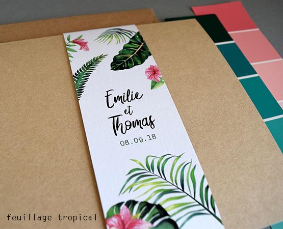 faire part kraft chic avec bandeau imprimé sur vrai papier kraft et encre blanche
