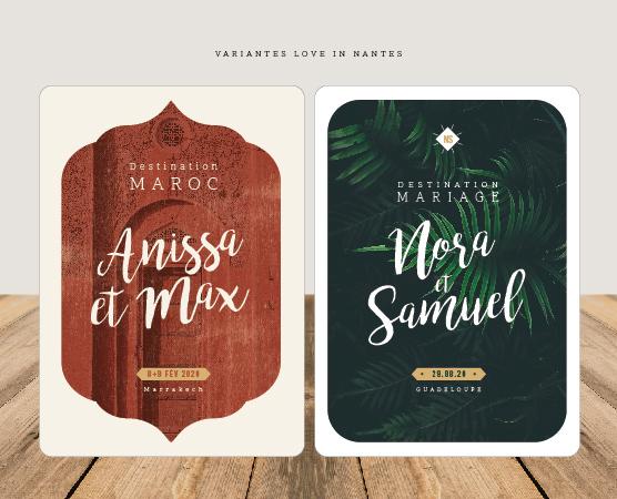 faire part mariage nantes et nantais petit beurre -version ethnique maroc