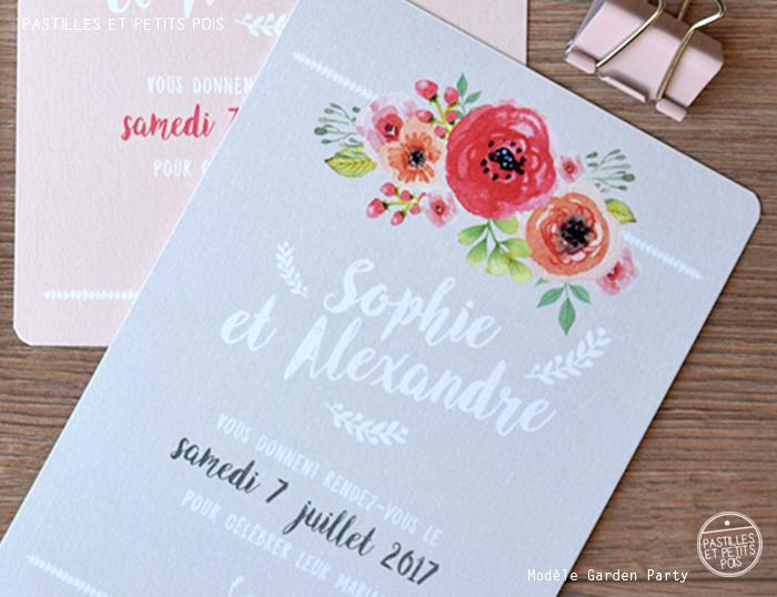 Bien-aimé Pastilles et Petits Pois Faire-part original - Blog Pastilles et  BX57