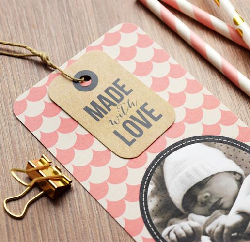 Bevorzugt Pastilles et Petits Pois Faire-part naissanceMade with love  WH01