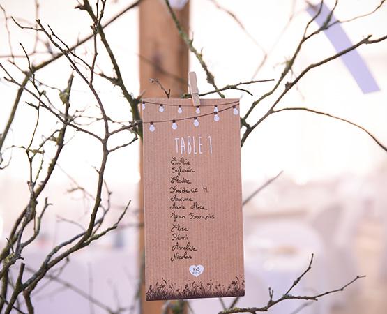 Pastilles et Petits Pois plan de table mariage