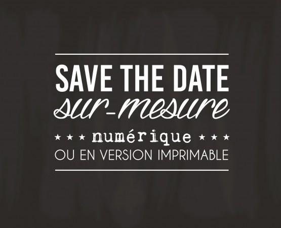 Création save the date numérique ou print par Pastilles et Petits Pois