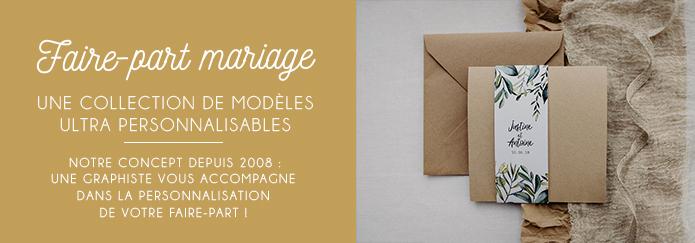faire part mariage nantes - papier recyclé et enveloppes kraft - faire part champetre chic vegetal boheme folk