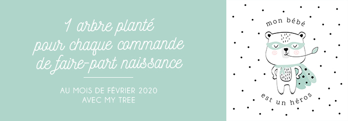 faire part ecologique papier recyclé ecoresponsable planter un arbre