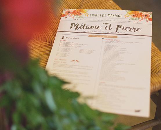 journal de mariage original cérémonie