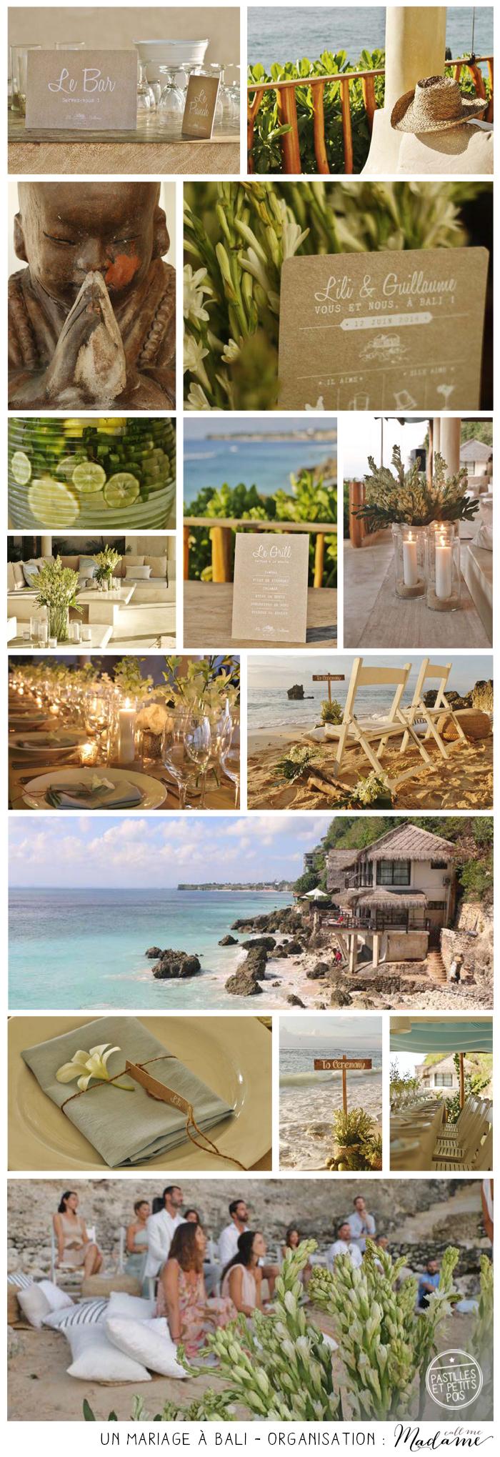 Mariage de rêve à Bali - Indonésie -mer